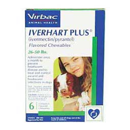 Iverhart Plus Heartworm Prevention Flavored Chewables for Dogs Virbac